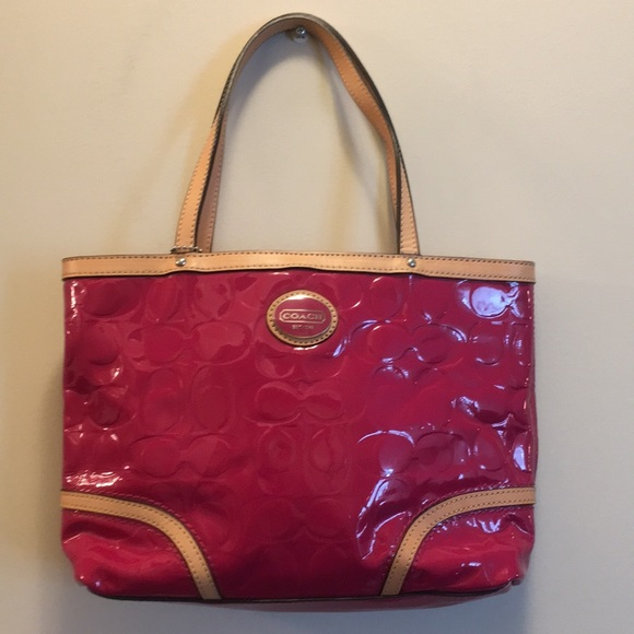 Coach Handbags - Coach Fuchsia Patent Leather Mini Tote